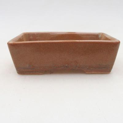 Keramik Bonsai Schüssel 12,5 x 9 x 4 cm, braune Farbe - 2. Qualität - 1