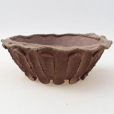 Keramik Bonsai Schüssel 14 x 14 x 5 cm, graue Farbe - 2. Qualität - 1