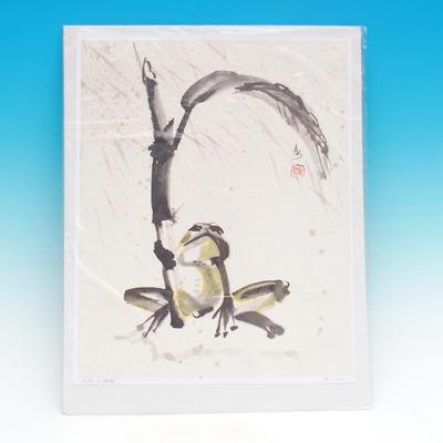 Kalligraphie -Žába im regen