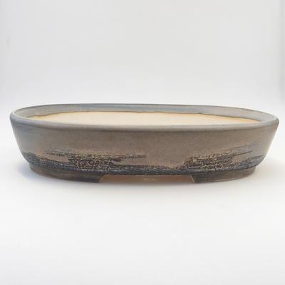 Bonsai-Schale 38 x 29,5 x 7,5 cm, graue Farbe - 1
