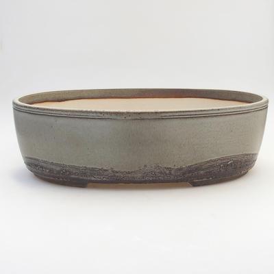 Bonsai-Schale 36 x 27,5 x 10 cm, grau-beige Farbe - 1
