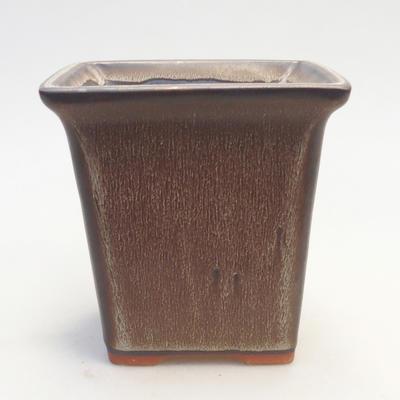 Bonsai-Schale 11 x 11 x 11,5 cm, Farbe braun - 1