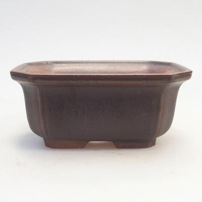 Bonsai-Schale 14,5 x 12 x 6,5 cm, braune Farbe - 1
