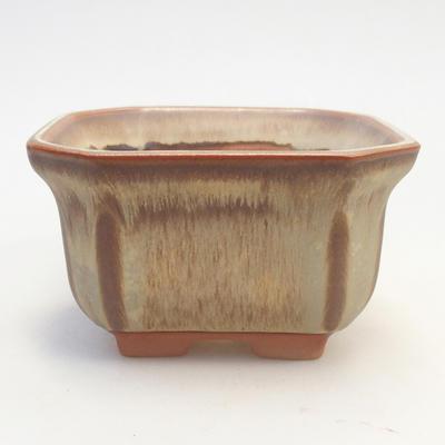 Bonsai-Schale 11 x 11 x 6,5 cm, braun-beige Farbe - 1