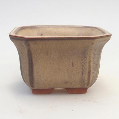 Bonsai-Schale 12 x 12 x 7 cm, braun-beige Farbe - 1