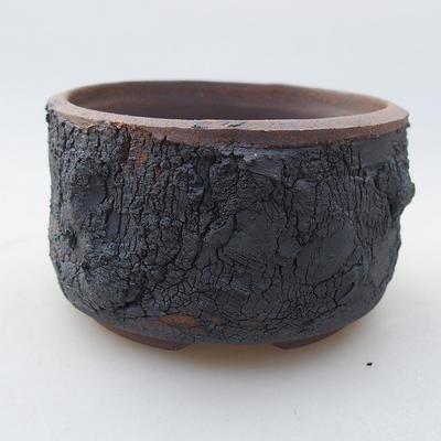 Keramische Bonsai-Schale 8 x 8 x 4,5 cm, Farbe rissig - 1