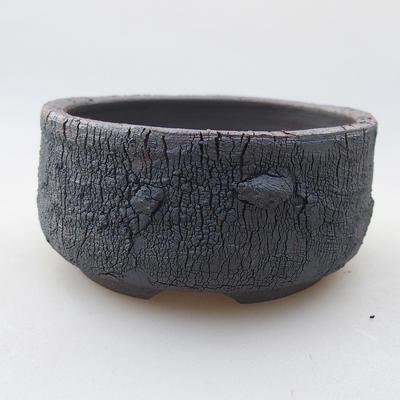 Keramische Bonsai-Schale 8,5 x 8,5 x 4,5 cm, Farbe rissig - 1