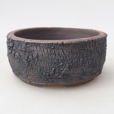 Keramische Bonsai-Schale 8,5 x 8,5 x 4 cm, Farbe rissig - 1