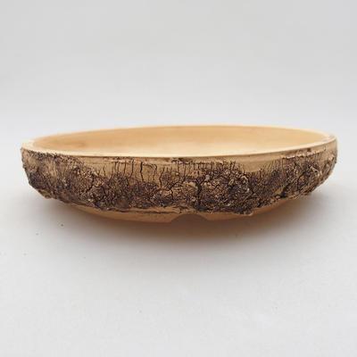 Keramik Bonsai Schüssel 14 x 14 x 2,5 cm, Farbe rissig - 1
