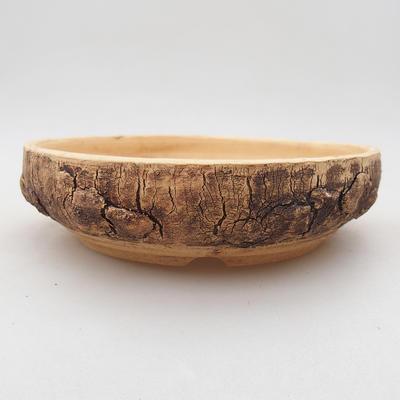 Keramische Bonsai-Schale 15,5 x 15,5 x 4 cm, rissige Farbe - 1