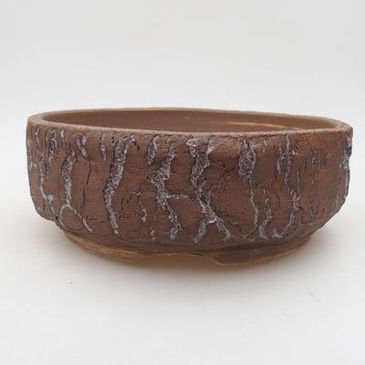 Keramik Bonsai Schüssel 20 x 20 x 7 cm, Farbe rissig - 1