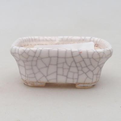 Keramik Bonsaischale 2. Wahl - 22 x 16 x 7,5 cm, braun-grüne Farbe - 1