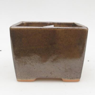 Keramik Bonsaischale 2. Wahl - 11 x 11 x 8,5 cm, Farbe grün - 1