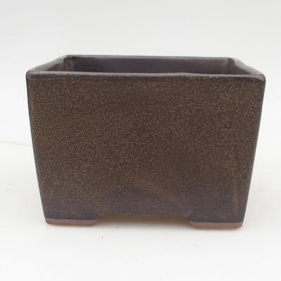 Keramik Bonsaischale 2. Wahl - 15,5 x 15,5 x 11 cm, Farbe braun - 1
