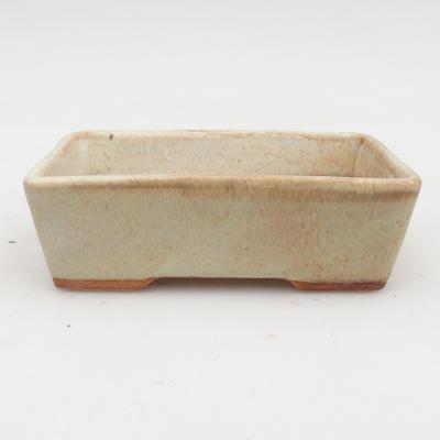 Keramik Bonsaischale 2. Wahl -12,5 x 9 x 4 cm, Farbe grau - 1