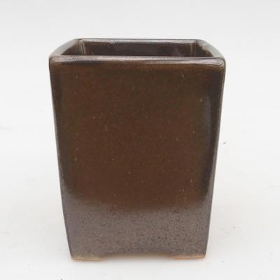 Bonsaischale aus Keramik 2. Wahl - 8 x 8 x 10 cm, Farbe grün - 1