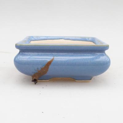 Keramik Bonsaischale 2. Wahl - 12 x 12 x 5 cm, Farbe blau - 1