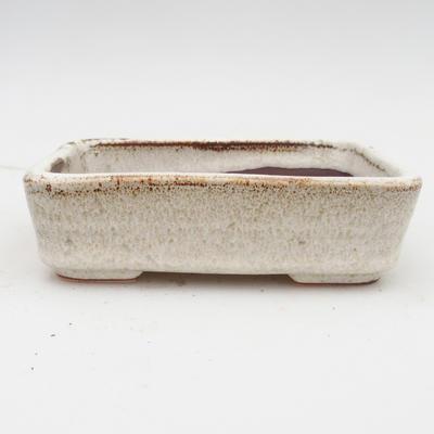 Bonsaischale aus Keramik 2. Wahl - 14 x 10,5 x 4,5 cm, Farbe beige - 1