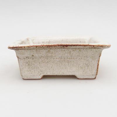 Bonsaischale aus Keramik 2. Wahl - 11 x 8,5 x 4 cm, Farbe beige - 1