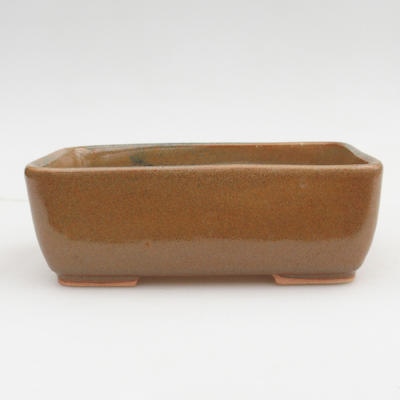 Keramik Bonsai Schüssel 2. Wahl - 16 x 10 x 5,5 cm, braune Farbe - 1