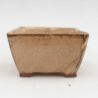 Bonsaischale aus Keramik 2. Wahl - 9 x 9 x 5,5 cm, Farbe beige - 1