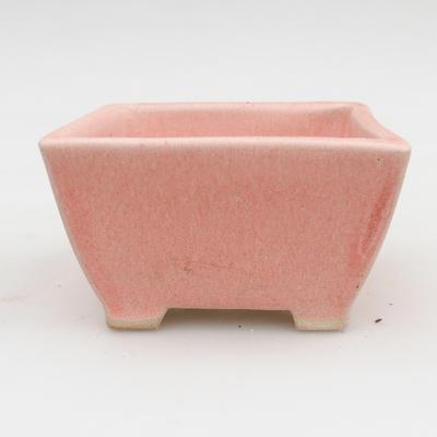 Keramik Bonsai Schüssel 2. Wahl - 9 x 9 x 5,5 cm, rosa Farbe - 1