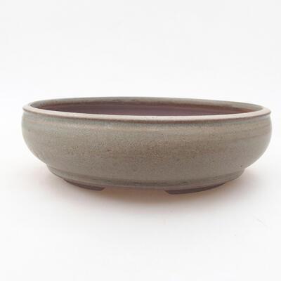 Keramische Bonsai-Schale 18,5 x 18,5 x 5 cm, Farbe grün - 1