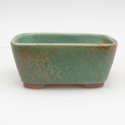 Keramik Bonsaischale 2. Wahl - 13 x 10 x 5,5 cm, braun-grüne Farbe - 1