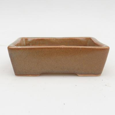 Keramik Bonsaischale 2. Wahl - 12 x 9 x 3,5 cm, Farbe grau - 1
