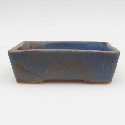Bonsaischale aus Keramik 2. Wahl - 12 x 9 x 3,5 cm, Farbe braun-blau - 1