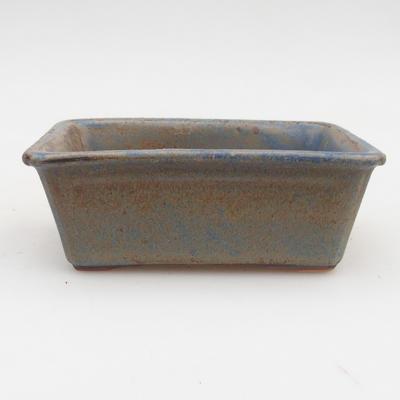 Bonsaischale aus Keramik 2. Wahl - 12 x 8 x 4 cm, Farbe braun-blau - 1