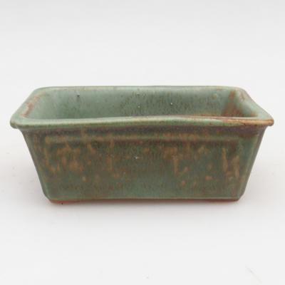 Keramik Bonsaischale 2. Wahl - 12 x 8 x 4 cm, braun-grüne Farbe - 1