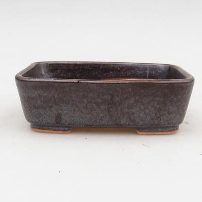 Keramik Bonsai Schüssel 2. Wahl - 12 x 10 x 4 cm, braune Farbe - 1