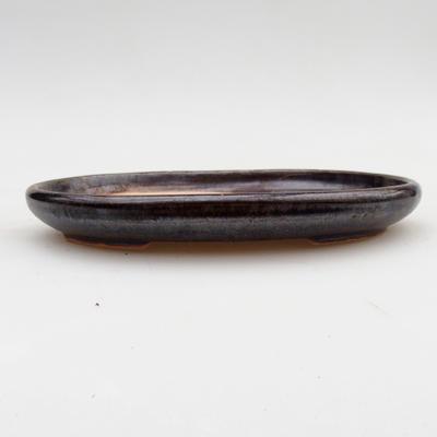 Keramik Bonsai Schüssel 2. Wahl - 17 x 12 x 2 cm, braune Farbe - 1