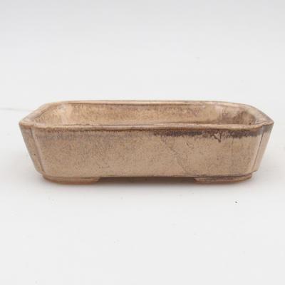 Bonsaischale aus Keramik 2. Wahl - 12 x 9 x 3 cm, Farbe beige - 1