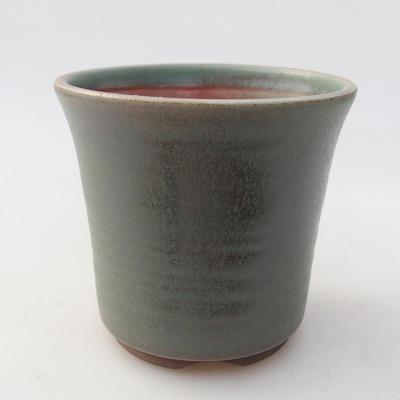 Keramische Bonsai-Schale 10 x 10 x 9,5 cm, Farbe grün - 1