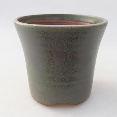 Keramik Bonsai Schüssel 10 x 10 x 9 cm, Farbe grün - 1