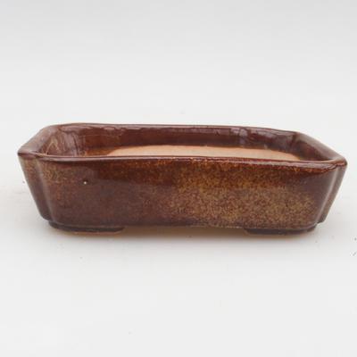 Keramik Bonsai Schüssel 2. Wahl - 12 x 9 x 3 cm, braune Farbe - 1