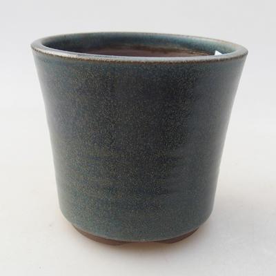 Keramische Bonsai-Schale 9 x 9 x 8 cm, Farbe blau - 1