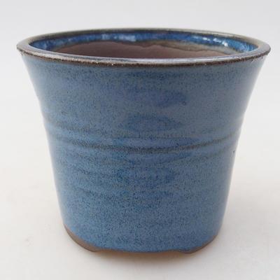 Keramische Bonsai-Schale 9 x 9 x 7,5 cm, Farbe blau - 1