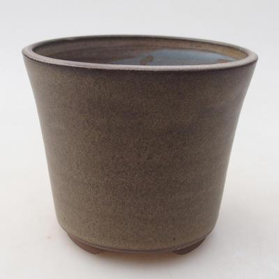 Keramische Bonsai-Schale 9,5 x 9,5 x 8 cm, graue Farbe - 1