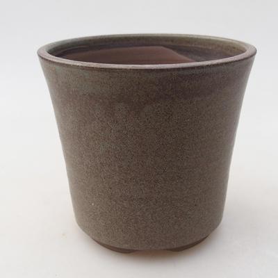 Keramische Bonsai-Schale 9,5 x 9,5 x 9 cm, graue Farbe - 1