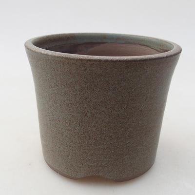 Keramische Bonsai-Schale 9 x 9 x 7 cm, Farbe grau - 1