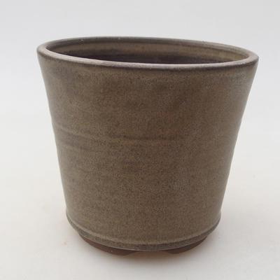 Keramische Bonsai-Schale 9,5 x 9,5 x 8,5 cm, braune Farbe - 1