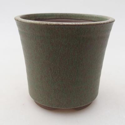 Keramische Bonsai-Schale 9 x 9 x 8,5 cm, Farbe grün - 1