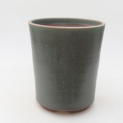 Keramik Bonsai Schüssel 14 x 14 x 16 cm, Farbe grün - 1
