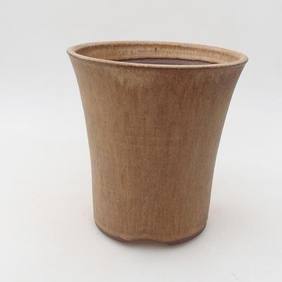 Bonsai-Keramikschale 15 x 15 x 16 cm, Farbe beige - 1