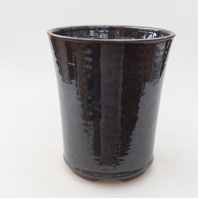 Keramische Bonsai-Schale 14 x 14 x 16,5 cm, Metallfarbe - 1