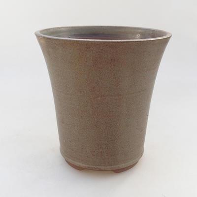 Keramik Bonsai Schüssel 15 x 15 x 16 cm, Farbe braun - 1