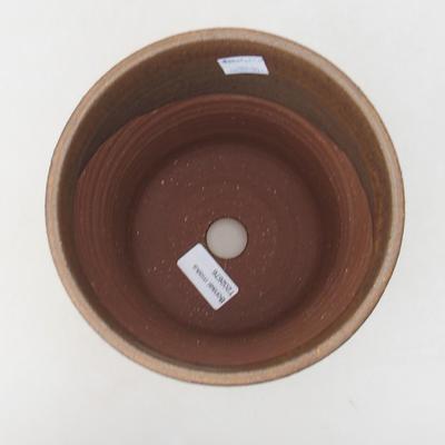 Keramische Bonsai-Schale 16 x 16 x 16 cm, Farbe braun - 1